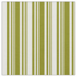 [ Thumbnail: Green and White Colored Stripes Pattern Fabric ]