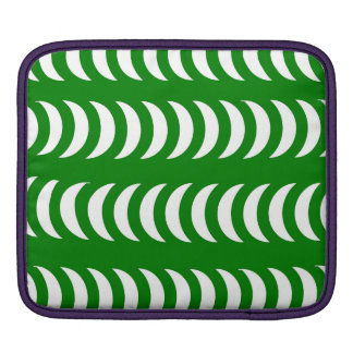 Green And White Crescent Moons iPad Sleeve