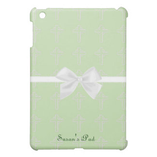 Green and White Cross iPad Mini Case
