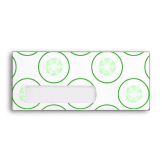 Green and White Cucumber Pattern. Envelope
