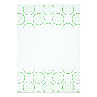 Green and White Cucumber Pattern. Personalized Invitations