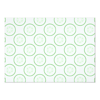 Green and White Cucumber Pattern. Custom Announcements