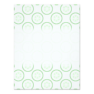 Green and White Cucumber Pattern. Invitations