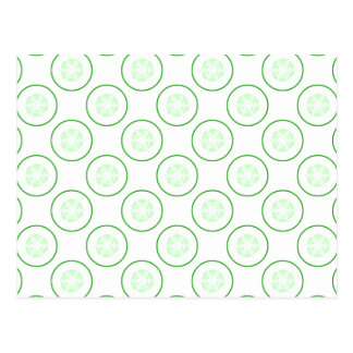 Green and White Cucumber Pattern. Postcard