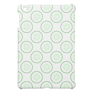 Green and White Cucumber Pern. iPad Mini Cases