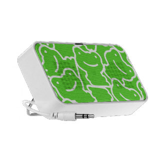 Green And White Cute Cartoon Frogs Speaker