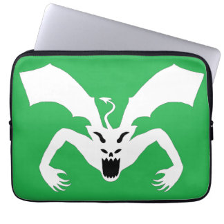 Green And White Devil Laptop Computer Sleeve