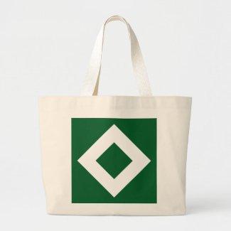 Green and White Diamond Pattern