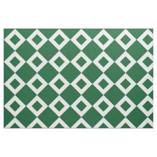 Green and White Diamond Pattern Fabric