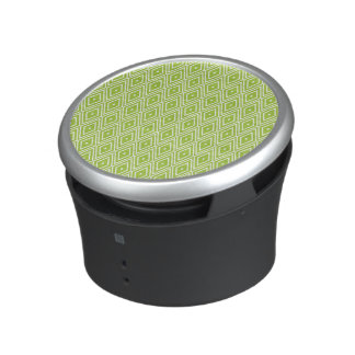 Green and White Diamonds Bluetooth Speaker