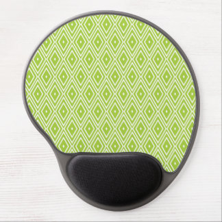 Green and White Diamonds Gel Mouse Pad