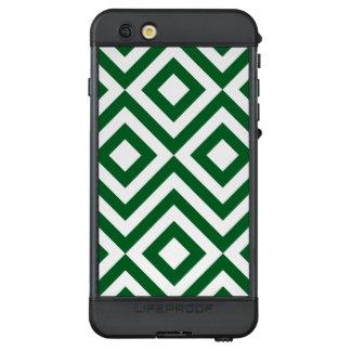 Green and White Diamonds, Zigzags LifeProof® NÜÜD® iPhone 6s Plus Case