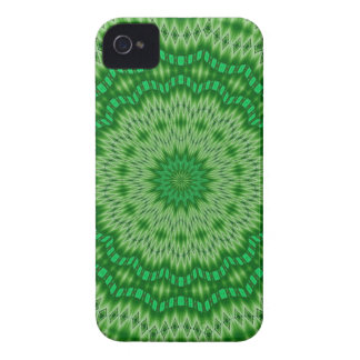green and white doily blackberry case