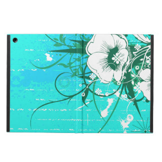 Green and White Floral Cover For iPad Air