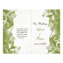 Green and White Floral Spring Wedding Flyer
