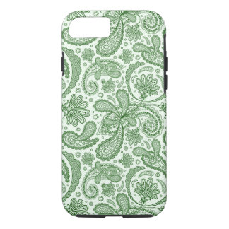 Green And White Floral Vintage Paisley iPhone 7 Case