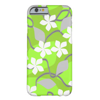 Green and White Flowers. Floral Pattern. Barely There iPhone 6 Case