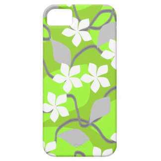 Green and White Flowers. Floral Pattern. iPhone 5 Case