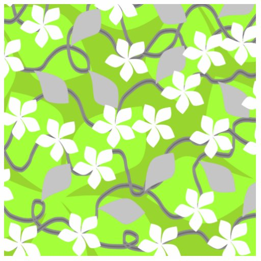 Green and white floral pattern - photo#5