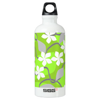 Green and White Flowers. Floral Pattern. SIGG Traveler 0.6L Water Bottle