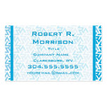 Green and White Geometric Pattern Business Card Template