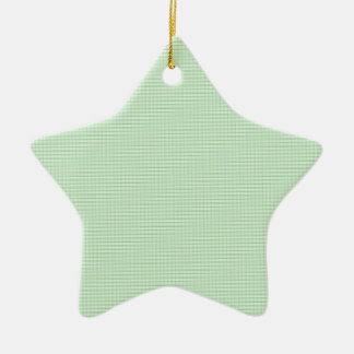 Green And White Gingham Check Pattern Christmas Ornaments