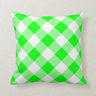 Green and White Gingham on a Pillow