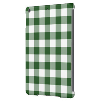 Green and White Gingham Pattern Cover For iPad Air