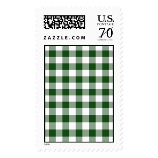 Green and White Gingham Pattern – Large Postage