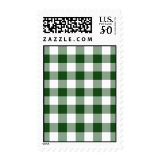 Green and White Gingham Pattern – Medium Postage