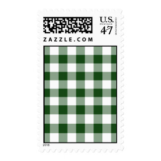 Green and White Gingham Pattern – Medium Stamp
