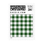 Green and White Gingham Pattern – Small Postage