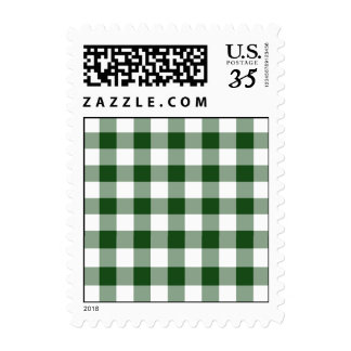 Green and White Gingham Pattern – Small Stamp