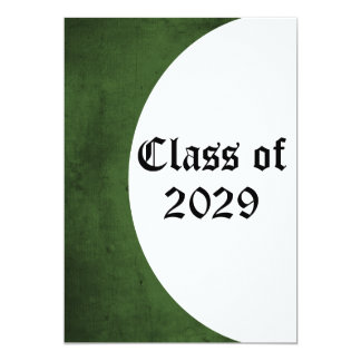 Green and White Graduation Invitation