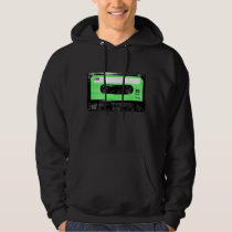 Green and White Houndstooth Label Cassette Hoodie