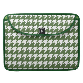 Green and white houndstooth MacBook pro sleeves