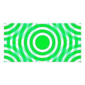 green_and_white_interlocking_concentric_circles tarjetas fotograficas