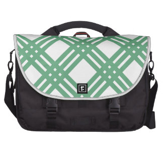 Green and White Lattice Commuter Bags