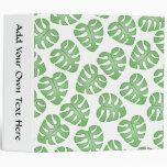 Green and White Leaf Pattern. Binders