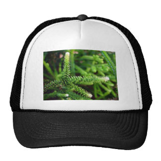 Green and white Leafy fingers Trucker Hats