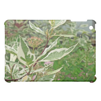 Green and White Leaves iPad Case