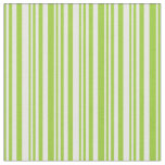 [ Thumbnail: Green and White Lines Fabric ]