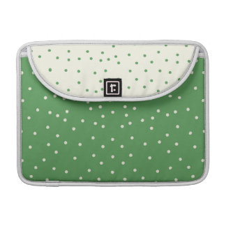 Green and White Macbook Pro Sleeve