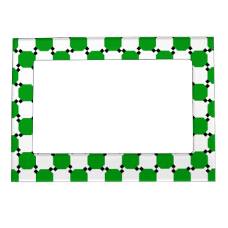 Green and White Magnetic Picture Frame