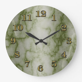 Green and White Marble Wallclock