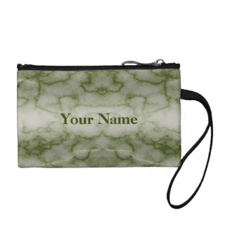 Green and White Marble Coin Purse