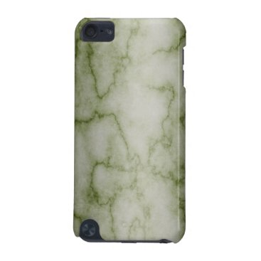 linda_mn Green and White Marble iPod Touch (5th Generation) Case