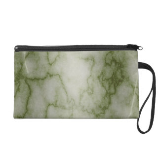 Green and White Marble Wristlet Purse