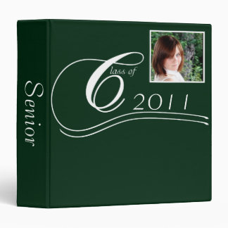 Green and White Modern Classic Graduation Binder