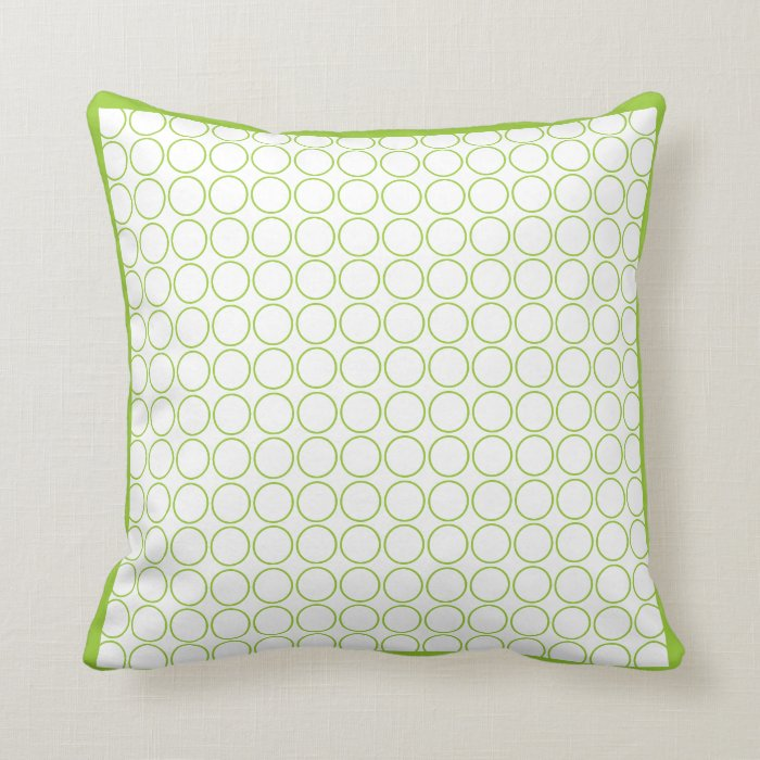 Modern White Pillows : green and white modern pillow Zazzle